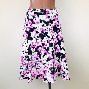 Cynthia Rowley High Waist Floral Midi Circle Skirt